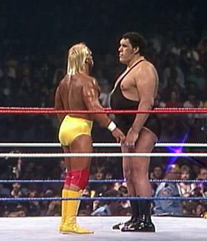 Andre vs hulk hogan wrestlemania 3