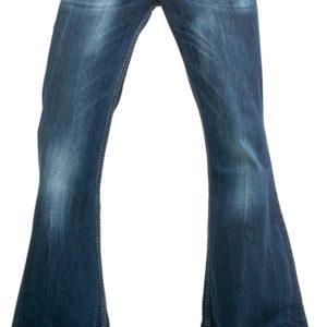 Comycom Dunkelblaue Herren Jeans Schlaghose Star Burn bis zur Länge 36