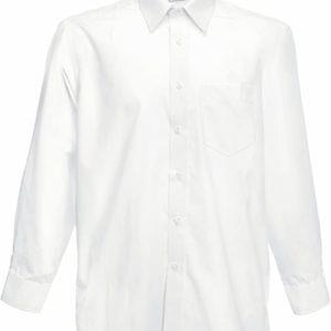 Fruit of the Loom Herren Long Sleeve Poplin Shirt Freizeithemd große Größe bis 3XL
