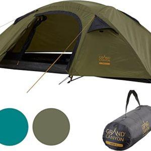 Grand Canyon Topeka 2 Kuppelzelt für 2 Personen | Ultra-leicht große Länge 235x165