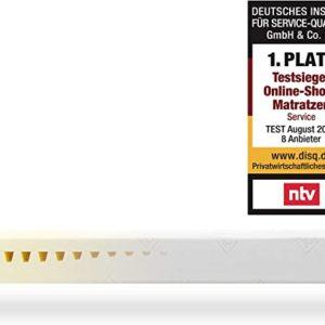 Snooze Project Matratze große Größe 200 x 220 x 19 cm - Härtegrad H3 Mittel-Hart